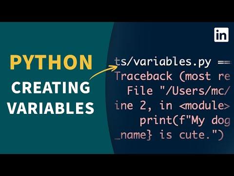 Python Tutorial - Creating Variables