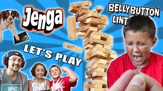 DAD vs. KIDS! Lets Play JENGA on iPad w/ BELLY BUTTON LINT (FGTEEV BLOCK STACKING CHALLENGE)