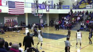 Oscar Frayer & Cody Riley posterizing each other at Tip-Off Classic