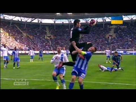 Страшная травма Гусева в матче Днепр - Динамо