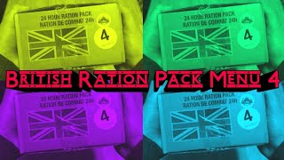 British 24hr Ration Pack menu 4