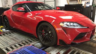 2020 TOYOTA GR SUPRA DYNO RUNS RIGHT AFTER DELIVERY!! Plus Revs and Ride Along!!