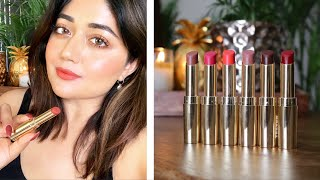 SWATCHES Lakme Absolute Matte Ultimate Lip Color with Argan Oil corallista