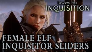 Female Elf Inquisitor Sliders