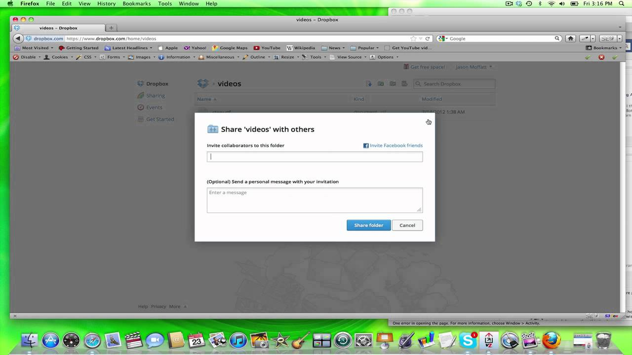 Sharing Files With Friends Using Dropbox