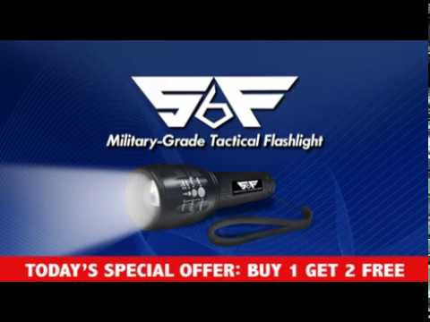 SF6 Military Grade Tactical Flashlight