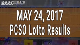 Lotto Result May 24, 2017 (6/55, 6/45, 4D, Swertres & EZ2)