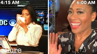 A News Anchor's Entire Routine, from Waking Up to Getting On Camera | Allure