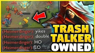 THIS GUY TRASH TALKED ME ALL GAME JUST TO GET SMACKED BY MY LEE | Lee Sin Mid - League of Legends