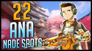 22 Ana Nade Spots on ALL Overwatch Maps (1 for Each Map)
