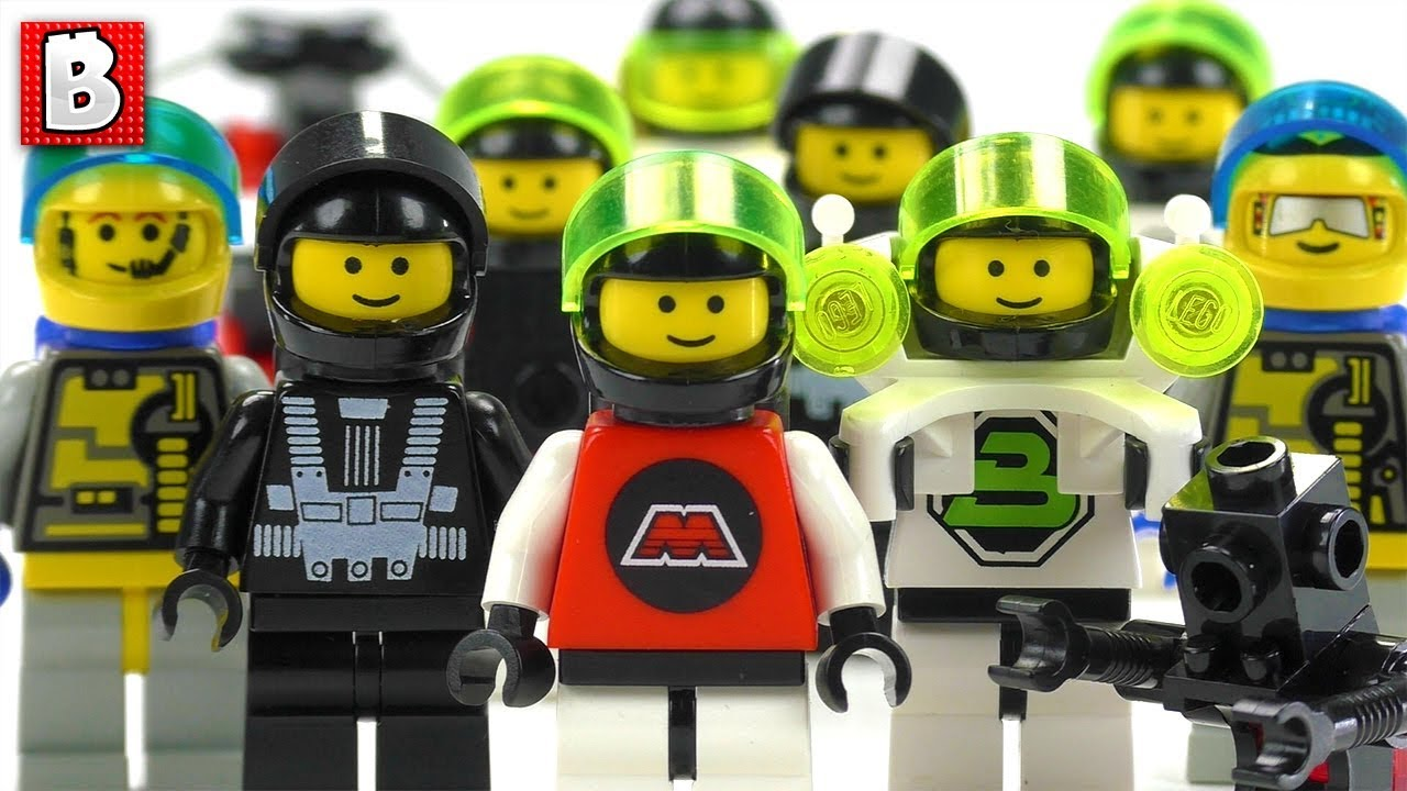 Every LEGO Blacktron, M-Tron and Unitron Minifigure Ever Made!!! Classic  minifig collection review