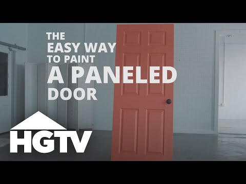 How To Paint A Paneled Door Hgtv You