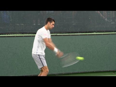 Novak Djokovic Forehand and Backhand 3 - Indian Wells 2013 - BNP Paribas Open