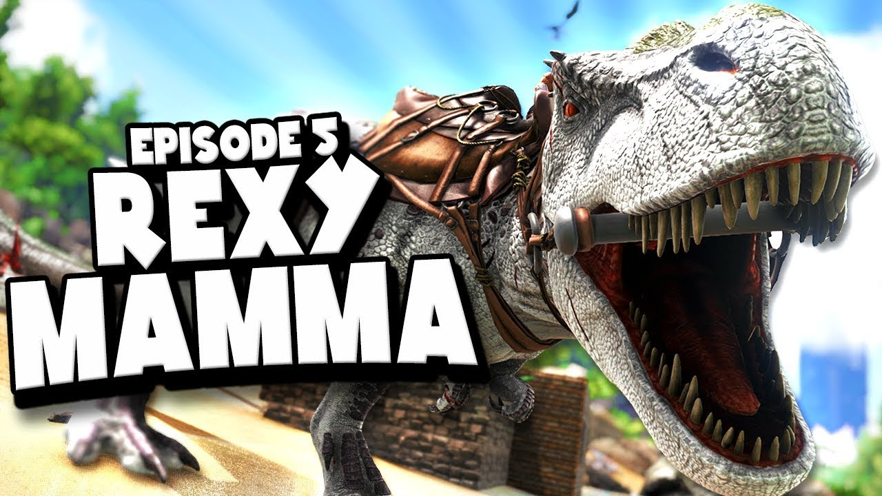 Download TAMING A MAMMA REX - ARK: Survival Evolved ASCENSION Ep #5