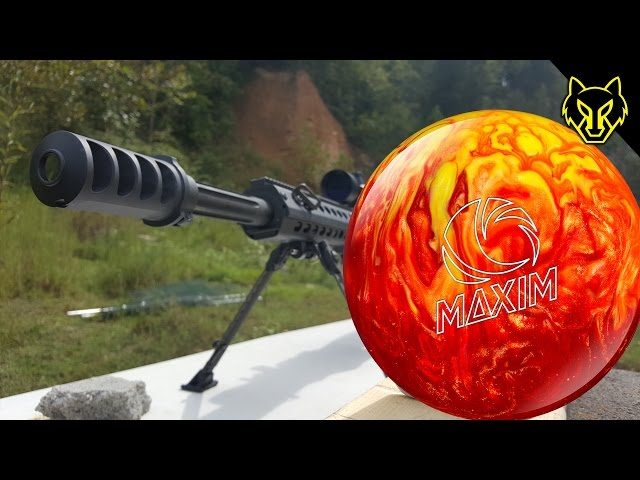 Shooting a .50 Cal into a Bowling Ball Finger Hole