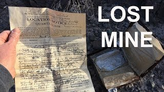 Discovering a lost gold mining claim in the California desert - Going Alone