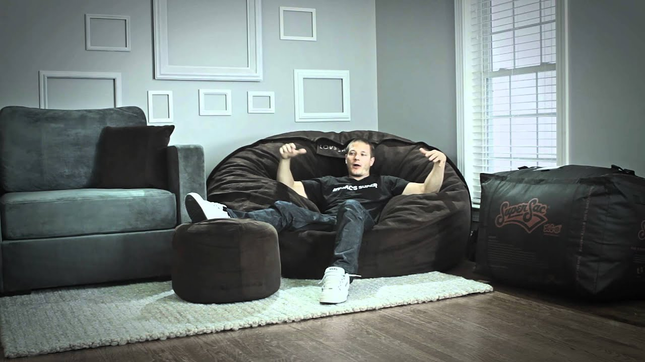 Love Sac Chair Rocking Recliner Lovesac Product Guide Supersac Overview Youtube
