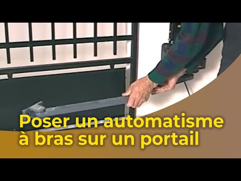 la pose d 39 un automatisme bras sur un portail youtube. Black Bedroom Furniture Sets. Home Design Ideas