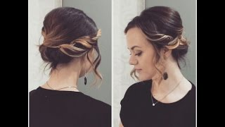 Вечерняя/свадебная прическа на короткие волосы