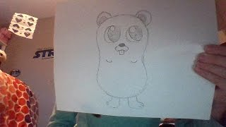 How to Draw a Super Cute Cartoon Gopher! :D