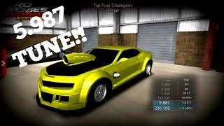 Repeat youtube video Twin Turbo 5th Gen Camaro - Street Car 5.987 Tune!!! - Pro Series Drag Racing