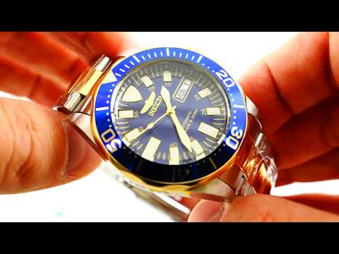 Invicta Signature Two-Tone SS Blue Dial Men's Watch Model 7046