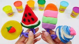 Play Doh oyun hamurundan dondurma yapalım. Eğlenceli video.