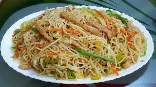 Chicken Chow Mein Restaurant Style (Ramadan Special) by YES I CAN COOK