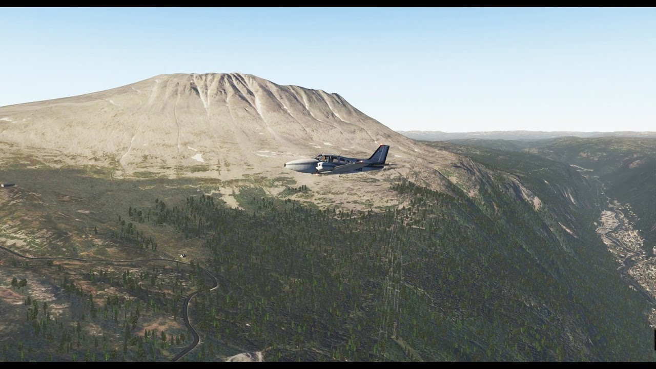 X-plane 11 - Tour of Norway - Part 4: Bergen to Notodden (with Ortho4xp  scenery)