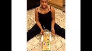 "Jalynn D. I. Y. video of how to play the game ""Mancala"""