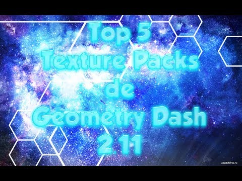 NEW!!! Top 5 Texture Packs De Geometry Dash 2.11 - AnthonyYT