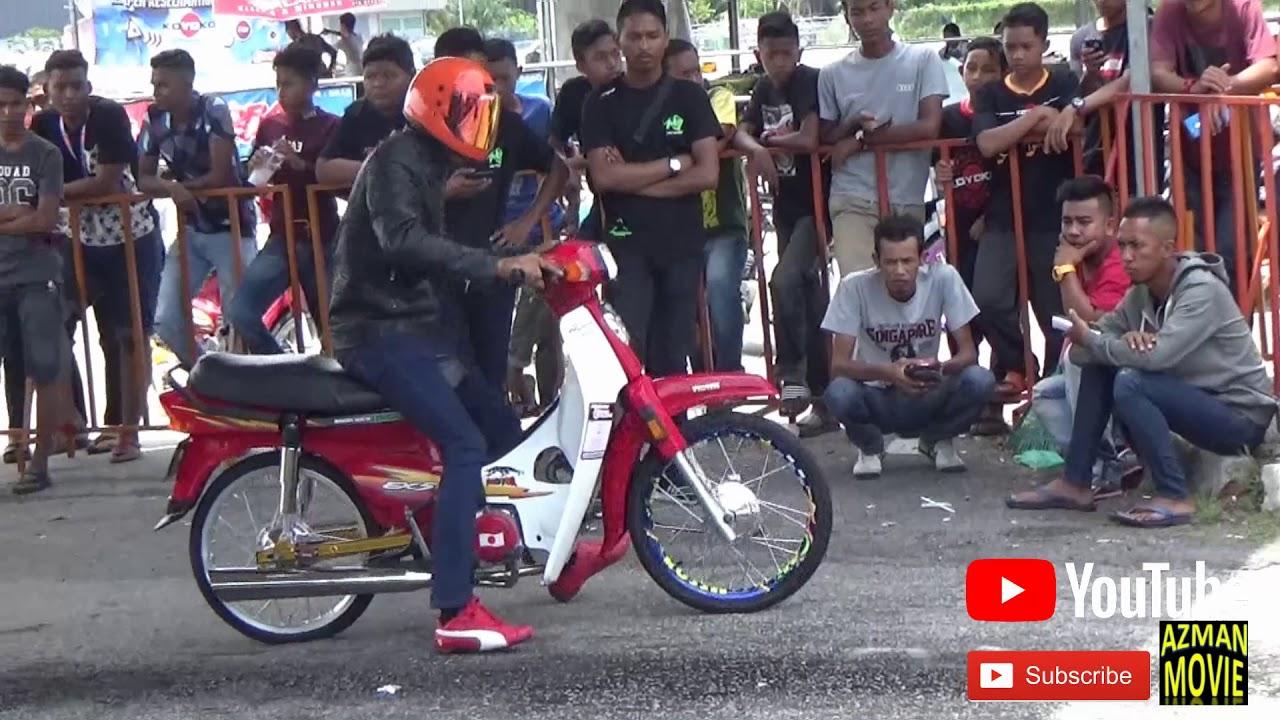 PART3/5 Honda 4t 110cc Standard Body Drag Racing Kubang Menerong Apr 2018