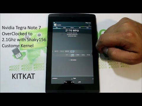 OverClock your CPU to 2 1Ghz on the Nvidia Tegra Note 7 with a custom kernel