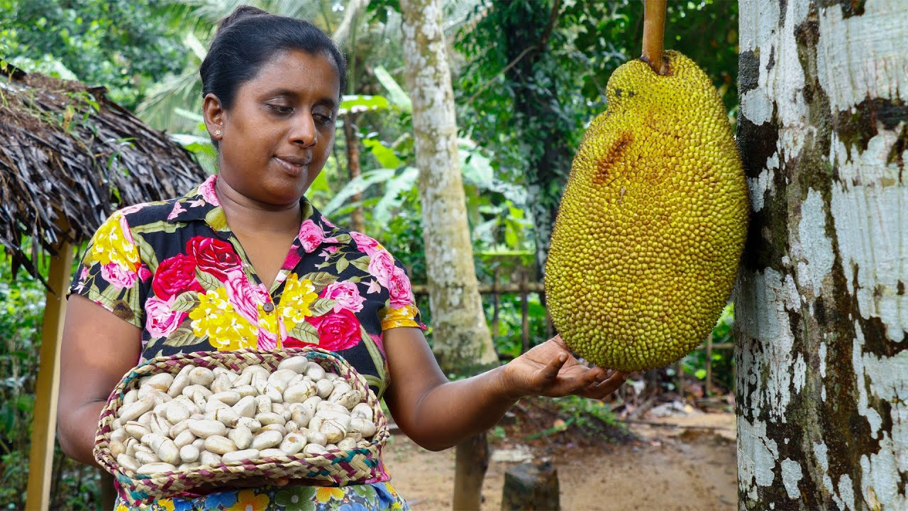 .A meal made from jackfruit seed flour is our breakfast today. village kitchen recipe