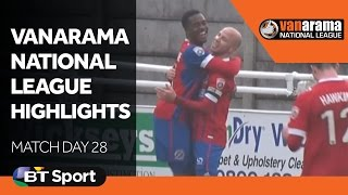 Vanarama National League Highlights Show: Matchday 28