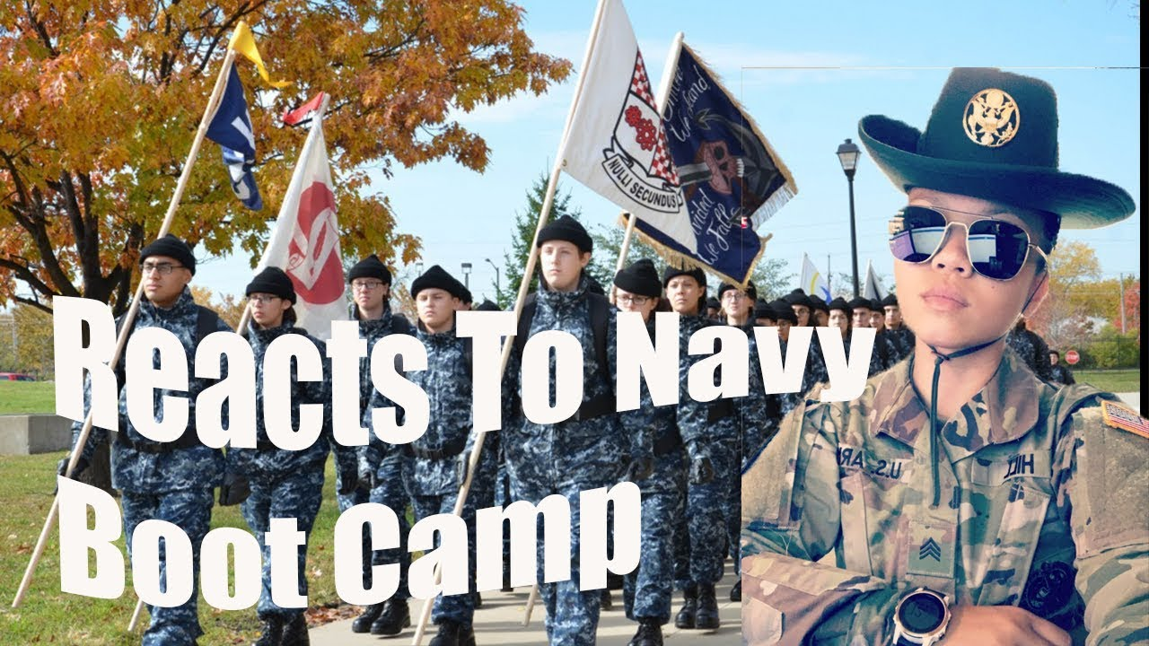 Afx Army Cadets army drill sergeant reacts to navy boot camp
