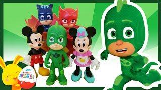 Histoire de Super Heros: Les PYJAMASQUES et Mickey. Yoyo, Gluglu, Bibou. Touni Toys Titounis