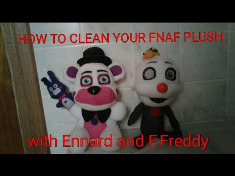 TUTORIAL ON HOW TO CLEAN FNAF PLUSHIES!!!!