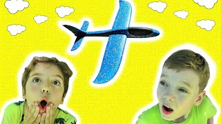 Max and Kirill playing with Airplane Toys ✈️