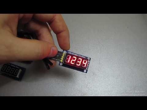 Подключение 7 сегментного дисплея на TM74HC595 к Arduino