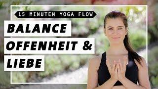 Yoga Flow für Balance, Kraft & Beweglichkeit | 15 Min. Vinyasa Flow | Mittelstufe
