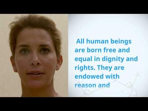 UDHR Video Article 1 English HRH Princess Haya Bint Al Hussein Jordan