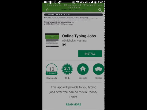 Online Typing Jobs App No Investment Required