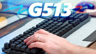 NEW Romer-G? Logitech G513 RGB Gaming Keyboard Review!