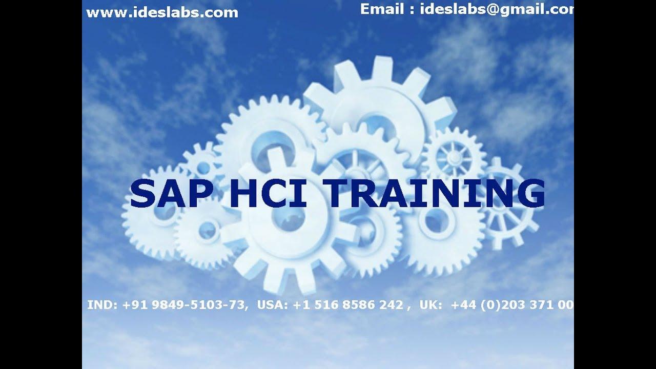SAP HCI training video | hana cloud integration online course demo