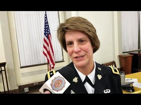 USMA Dean BGen Cindy R. Jebb at Army-Navy Debate
