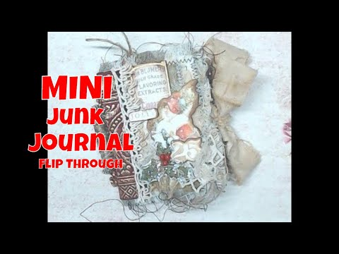 mini-country-christmas-junk-journal-flip-through
