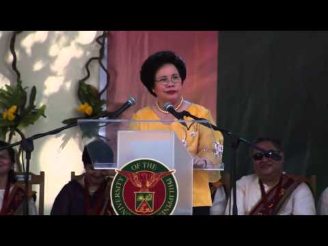 Sen. Miriam Defensor Santiago's Speech at UP Cebu