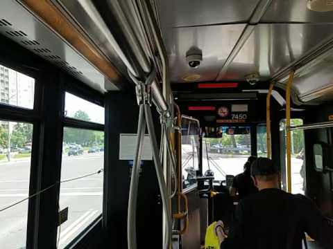 On Board Toronto Transit Commission 2003 Orion 7.501 diesel #7450 (part 1)