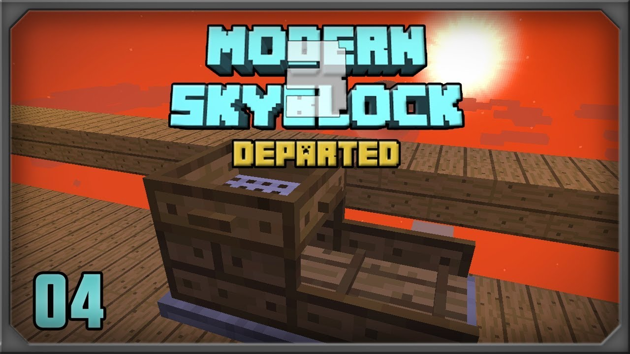 Modern Skyblock 3 Departed Sluice + Condenser Automation